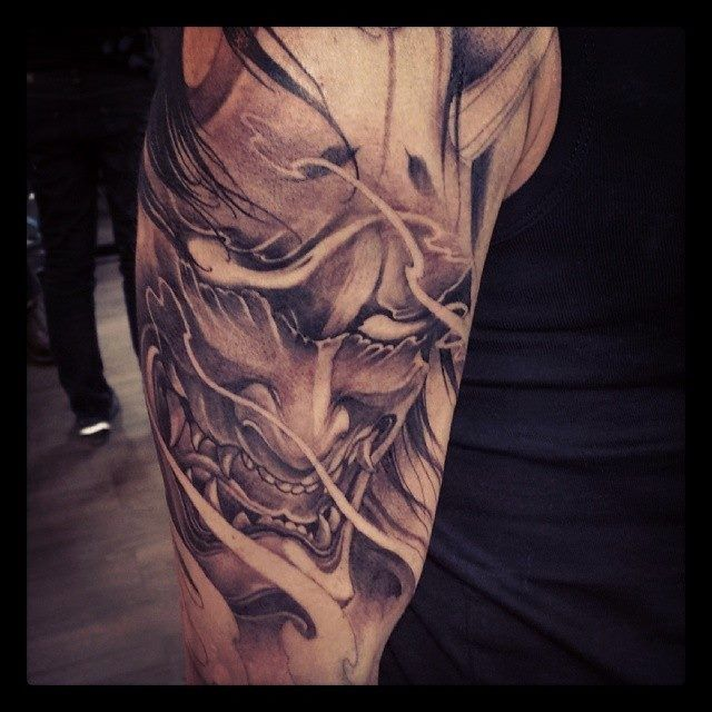 47 Fantastic Hannya Sleeve Tattoos