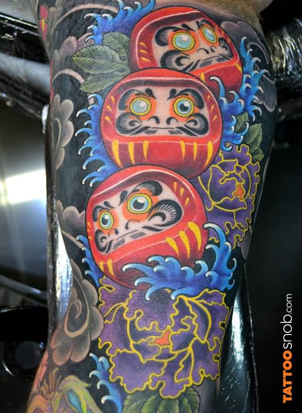 27 One Eye Daruma Doll Tattoos