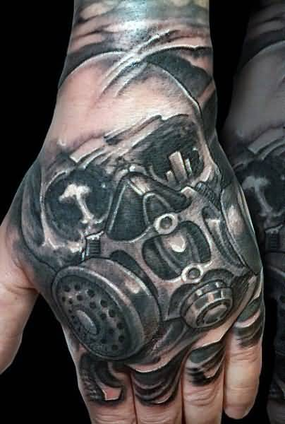 6  gas mask tattoos on hands