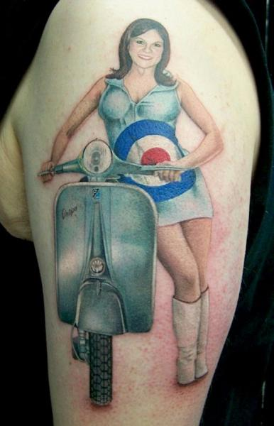 scooters tattoos