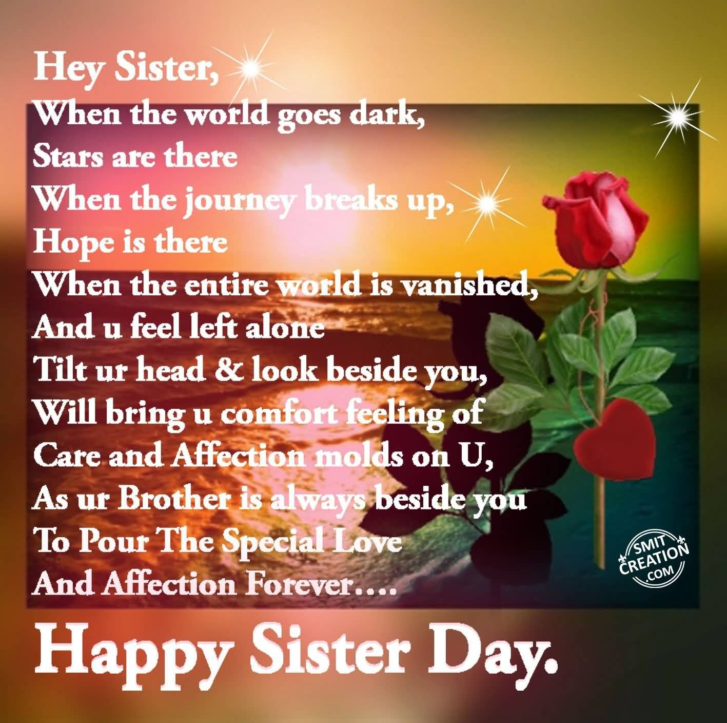 Best Wishes For Sister On Sisters Day