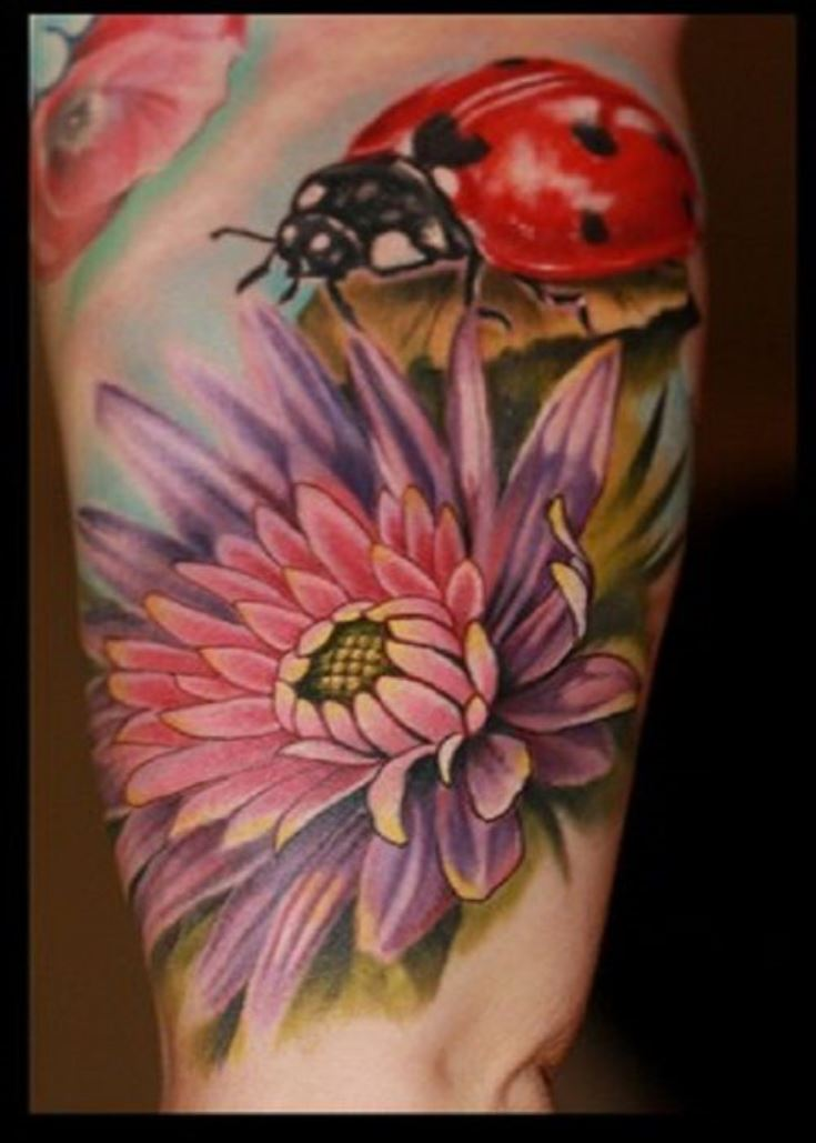 Flower Tattoo On The Inner Forearm Tattoo Artist Doy: 43+ Incredible Ladybug And Flower Tattoos