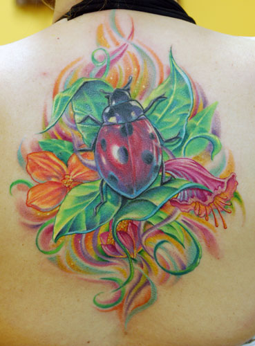 43+ Incredible Ladybug And Flower Tattoos