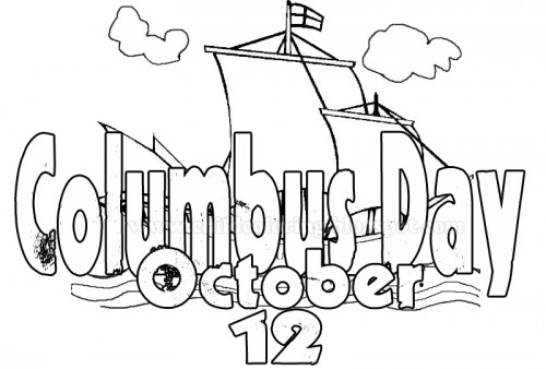 60 beautiful happy columbus day 2016 greeting pictures and for Columbus coloring page