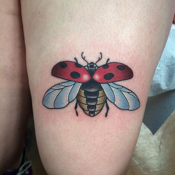Ladybug Tattoos Designs Ideas And Meaning: 28+ Awesome Colored Ladybug Tattoos