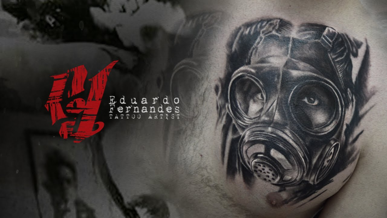 44 best gas mask tattoos collection - Gas Mask Tattoo On Front Chest