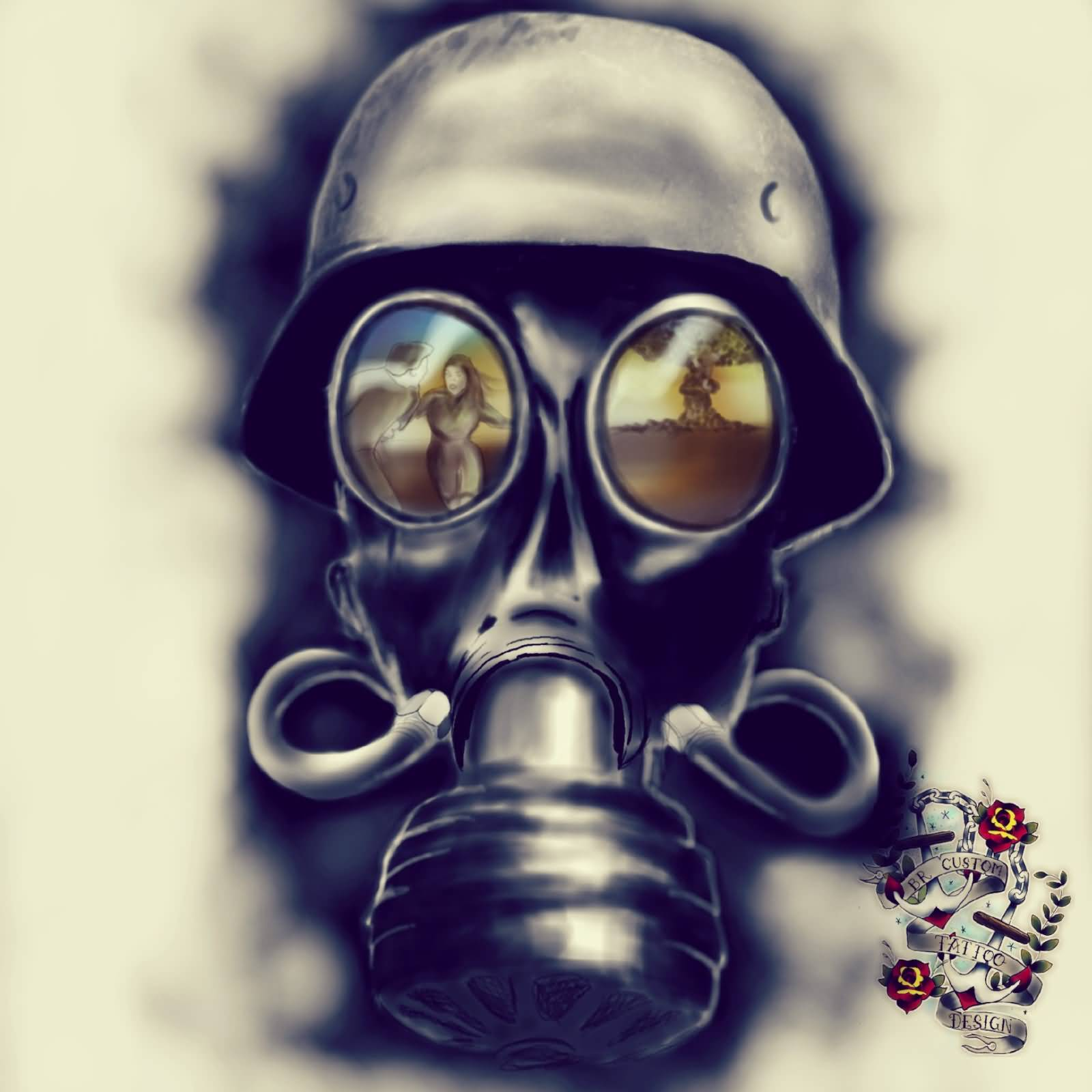 44 best gas mask tattoos collection -  15 Gas Mask Tattoo Design