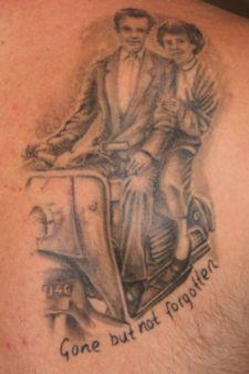 Lambretta scooter tattoos