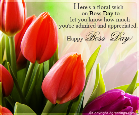 50 happy bosss day wishes pictures and images heres a floral wish on boss day to let you know how much youre m4hsunfo