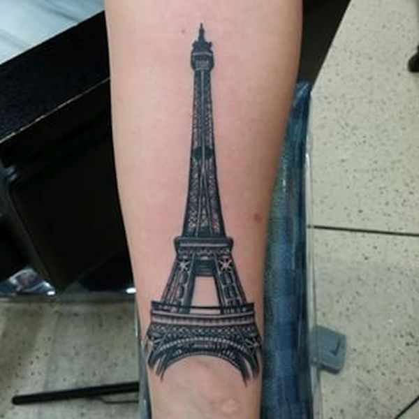 57 famous eiffel tower tattoos rh askideas com Eiffel Tower Small Finger Tattoos Balloon Eiffel Tower Tattoo