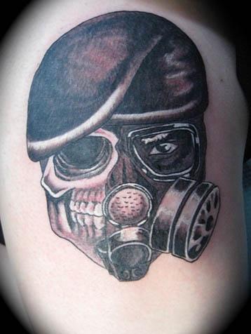 Biohazard Gas Mask Tattoo
