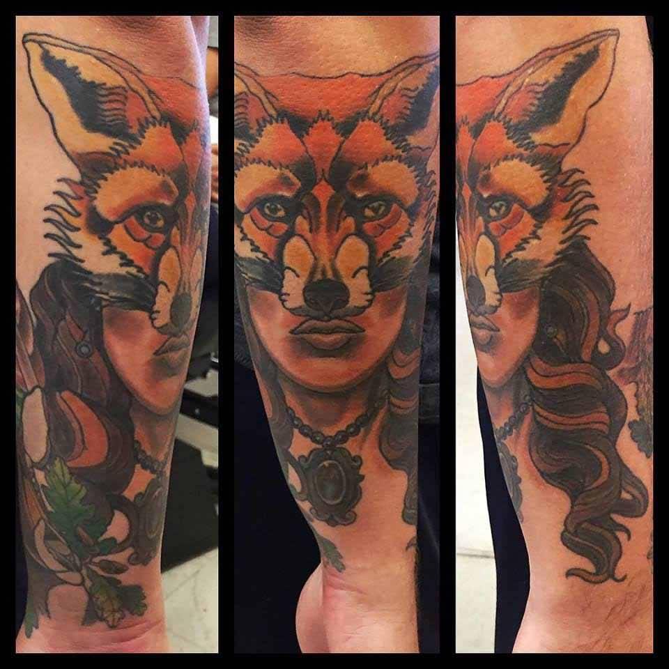 24+ Amazing Fox Girl Tattoos Ideas