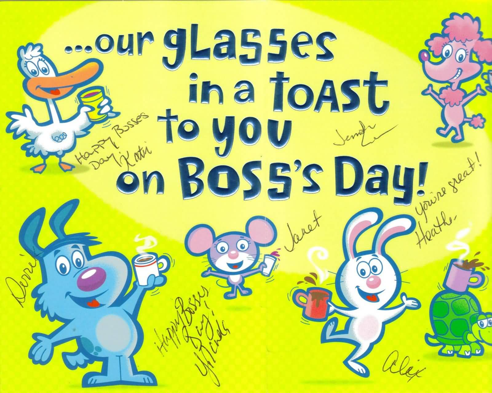 50 Happy Bosss Day Wishes Pictures And Images