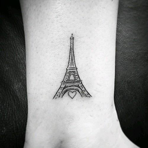 outline heart and eiffel tower tattoo on leg rh askideas com eiffel tower tattoo small eiffel tower tattoo on finger