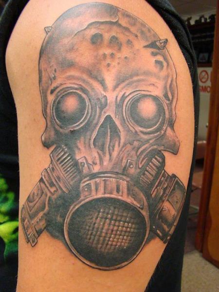 29 amazing gas mask tattoos. Black Bedroom Furniture Sets. Home Design Ideas