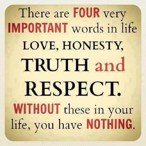There Are Four Very Important Words In Life Love Honesty Truth Adorable Honesty Quotes