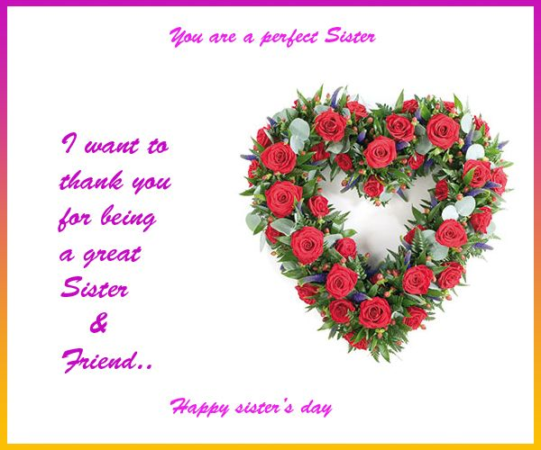 Thank You For Being My Sister Quotes: 28 Happy Sister's Day Greeting Card Pictures And Images