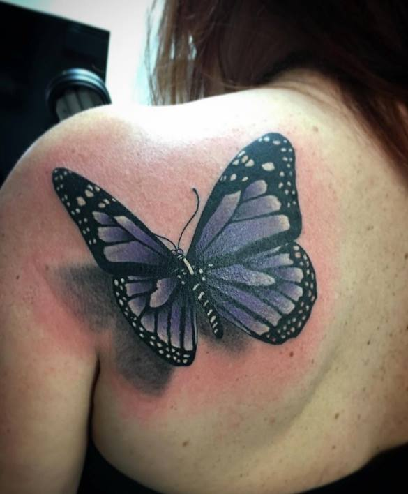 Monarch Butterfly Tattoos On Shoulder