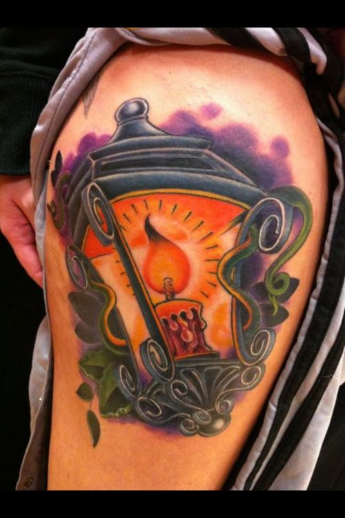 51 awesome lamp tattoos. Black Bedroom Furniture Sets. Home Design Ideas
