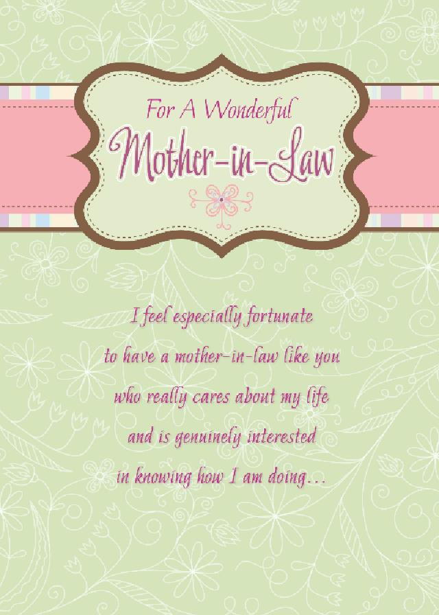 For A Wonderful Mother In Law On Mother In Law Day