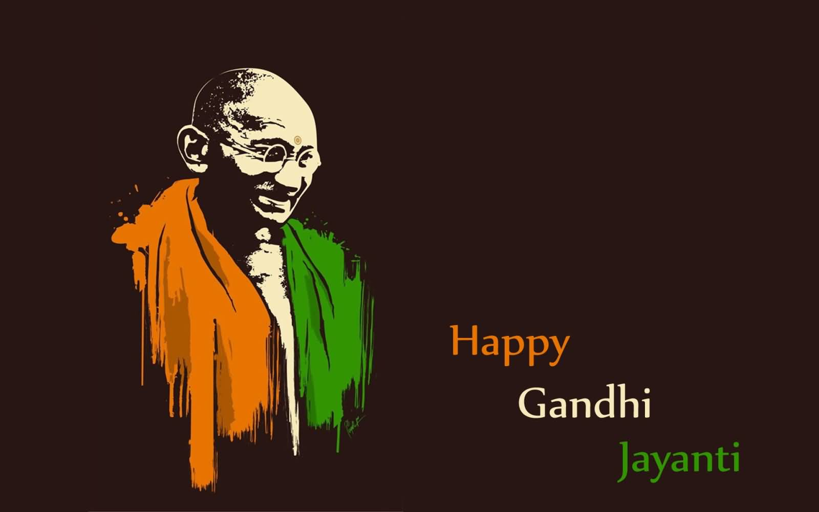 Gandhi Ji With Indian Flag Hd: 60+ Best Gandhi Jayanti Wishes Pictures And Images