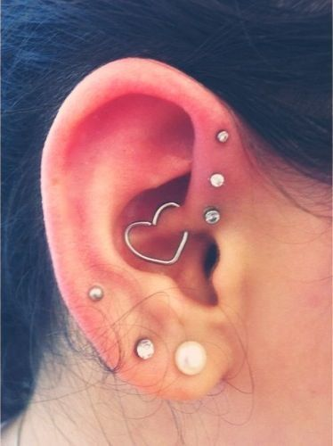 eda15f5db Heart Cartilage And Ear Piercings For Girls