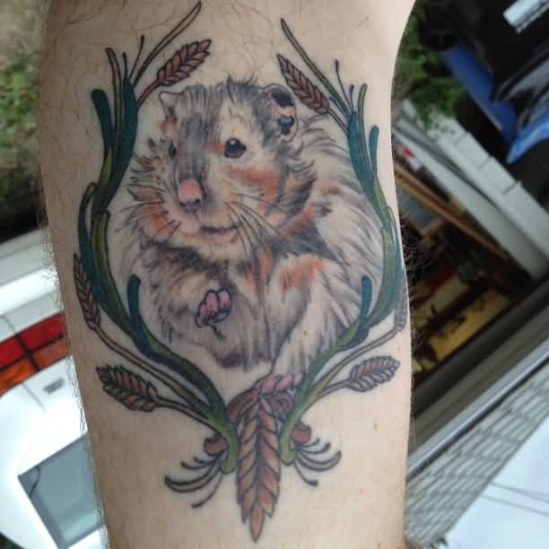 20 amazing hamster tattoos collection. Black Bedroom Furniture Sets. Home Design Ideas