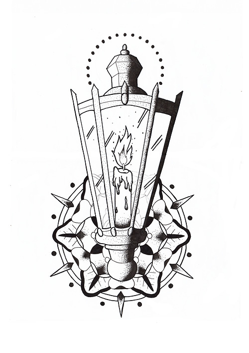 17 unique lamp tattoo designs. Black Bedroom Furniture Sets. Home Design Ideas