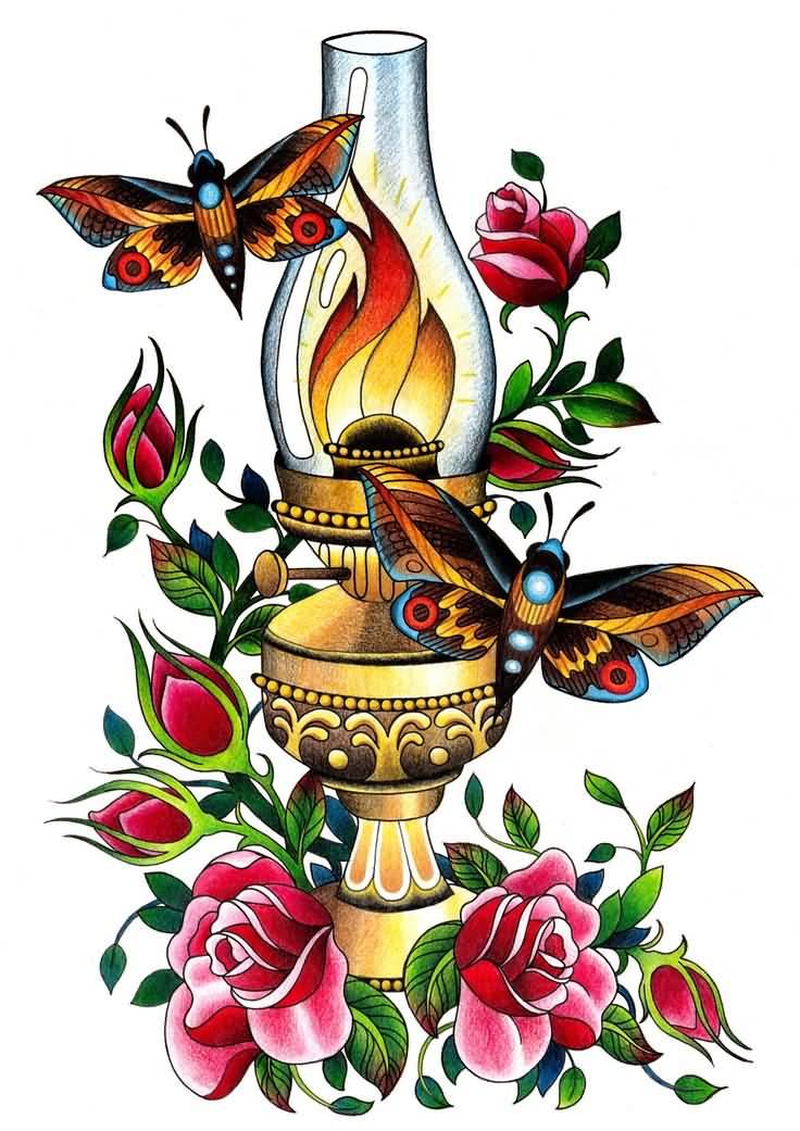 11 Latest Lamp Tattoo Designs