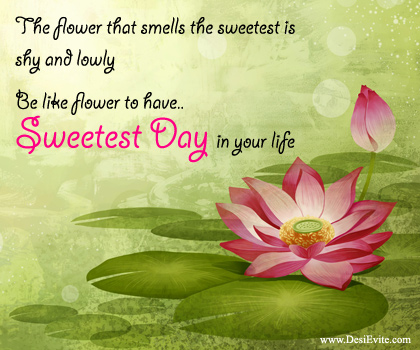 35 beautiful sweetest day greetings images and photos the flower that smells the sweetest is shy and lowly be like flower to have sweetest m4hsunfo