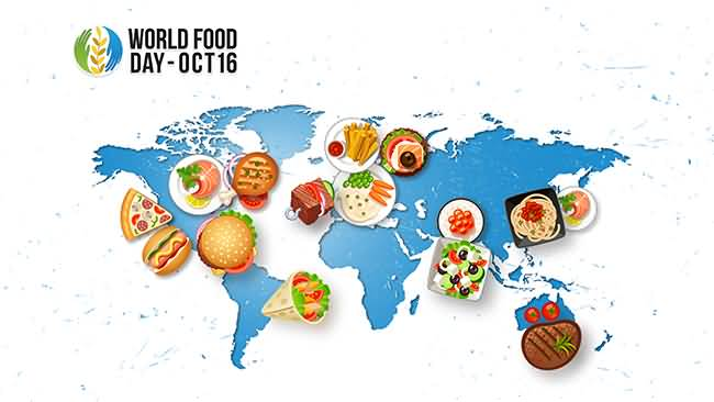 World Food Day October 16 World Map Picture