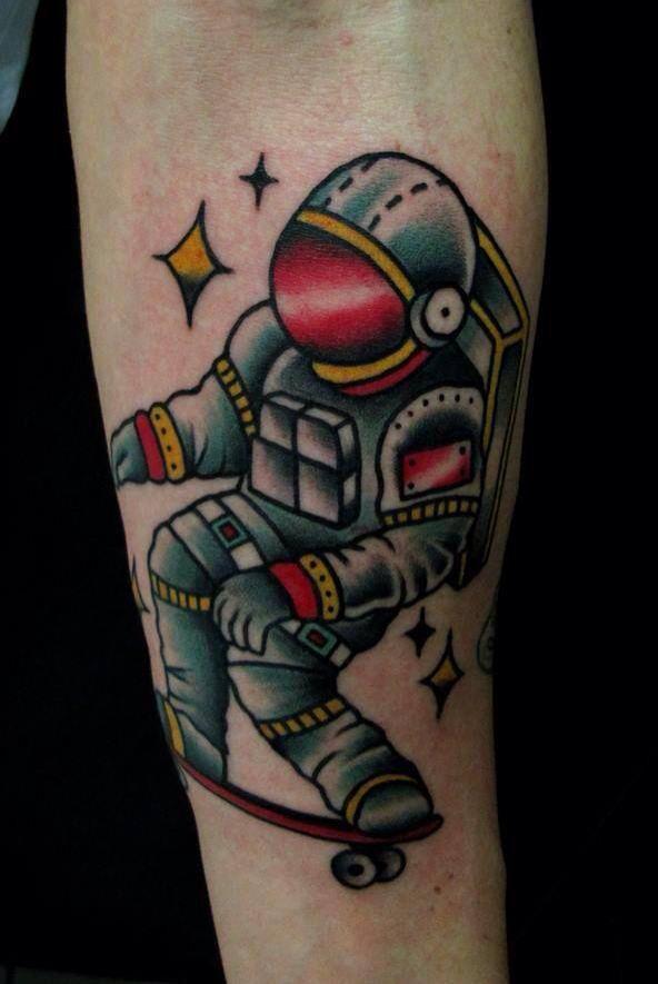 astronaut spaceship tattoo - photo #43