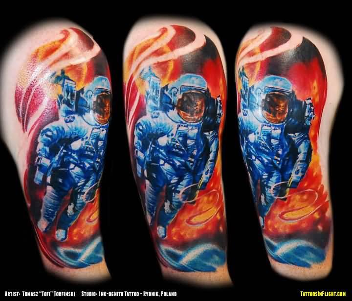 astronaut spaceship tattoo - photo #7