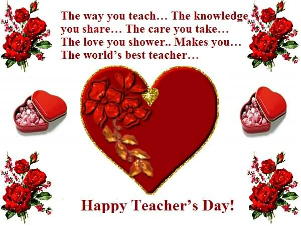 40 best greetings for happy world teachers day 2016 images and photos happy world teachers day 2016 greeting card m4hsunfo Image collections