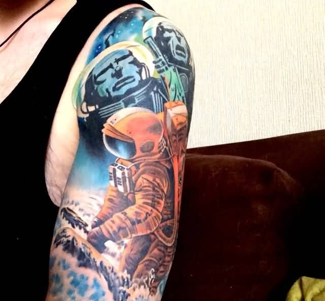Galexy Girl Swinging Tattoo: 55+ Amazing Space Tattoo