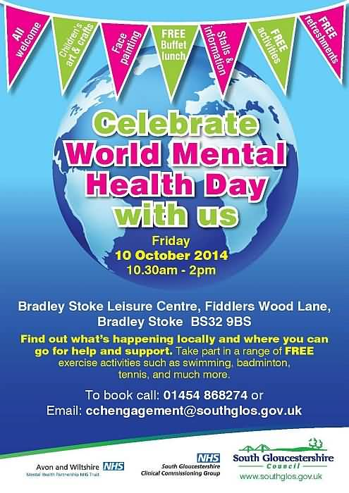 Celebrate World Mental Health Day With Us Poster