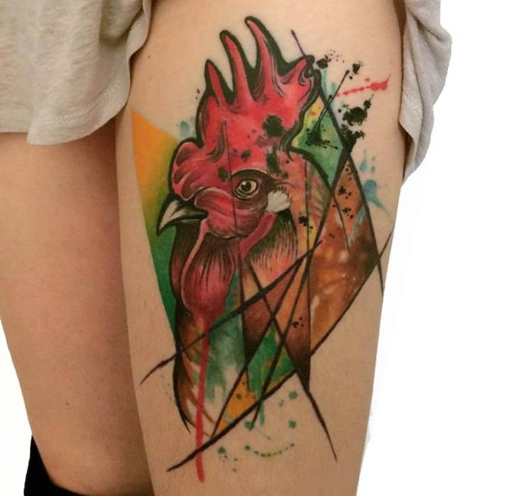 13 Latest Rooster Tattoo Designs