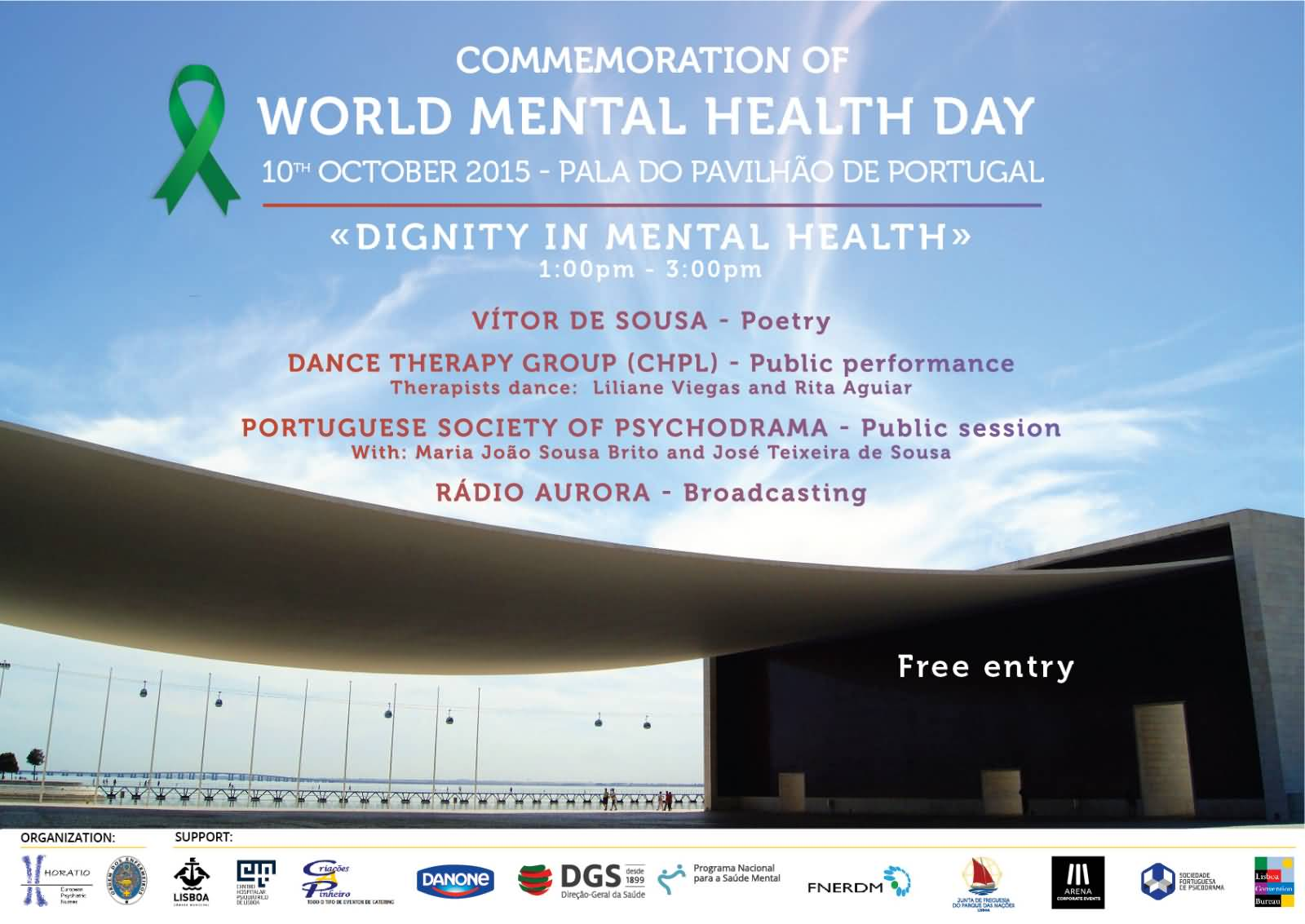 Commemoration Of World Mental Health Day 10 October Poster