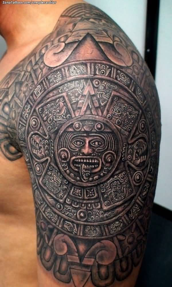 Mayan Tattoos - 30 Perfect Collections | Design Press |Mayan Tattoo Color