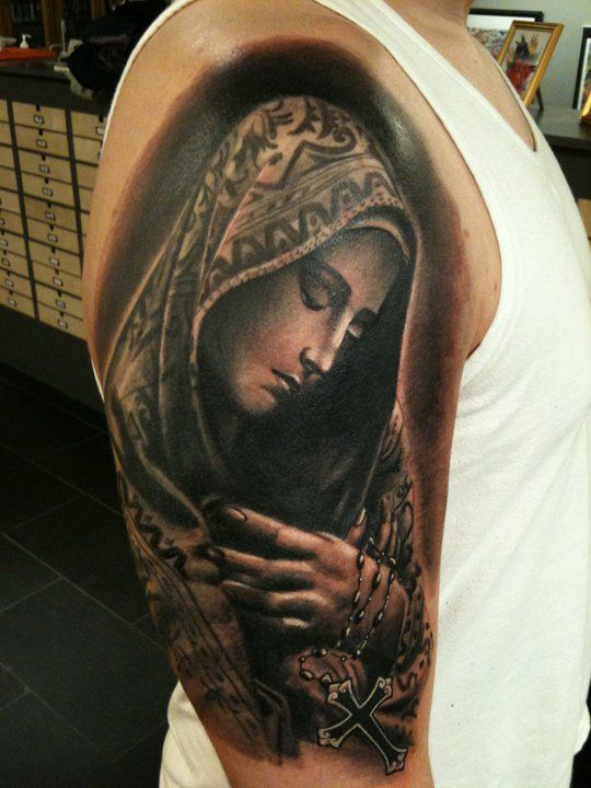 13+ Virgin Mary Tattoo Designs