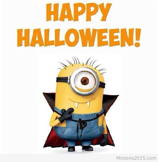 Dracula Minion Wishing You Happy Halloween 2016