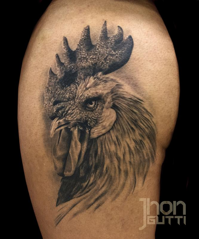45+ Cool Rooster Tattoos