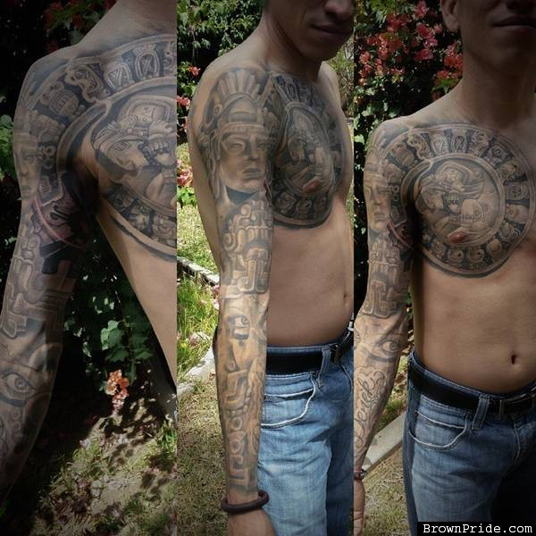 Mayan Tattoos Sleeve