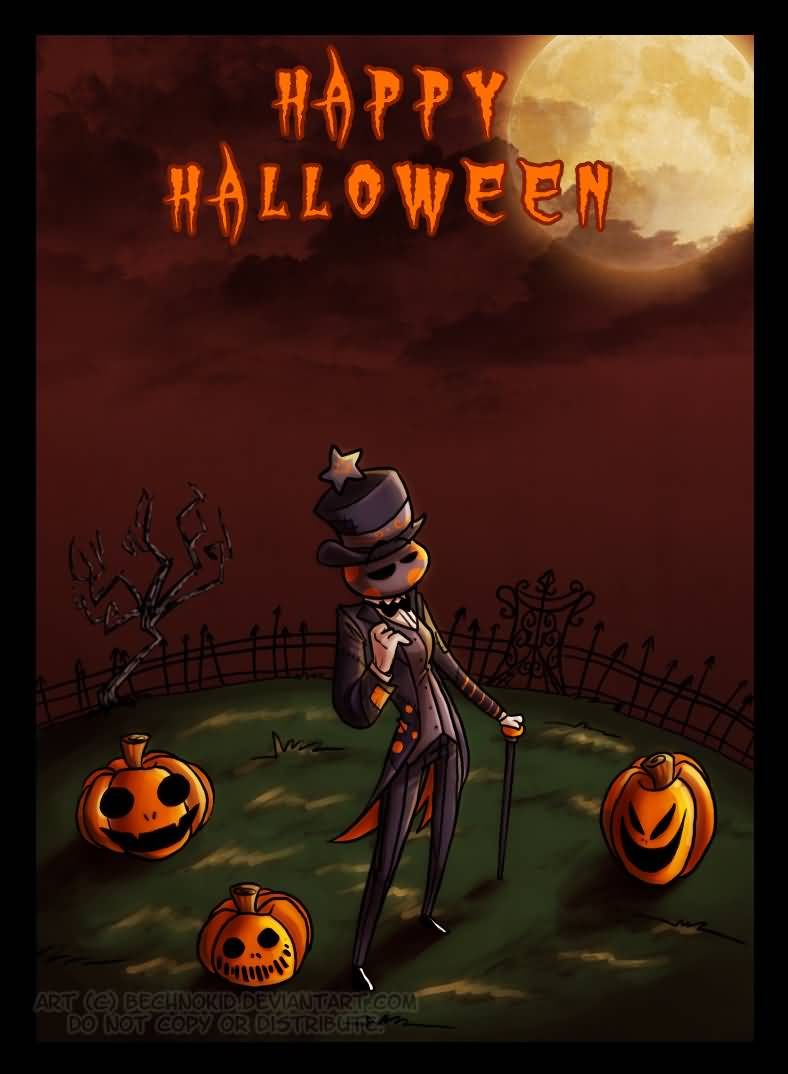 Happy Halloween Greeting Card Image