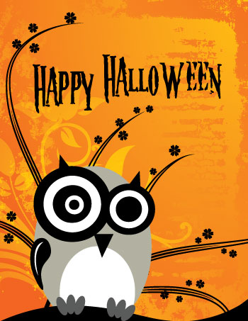 22 most beautiful happy halloween greeting card images and photos happy halloween owl greeting card bookmarktalkfo Image collections