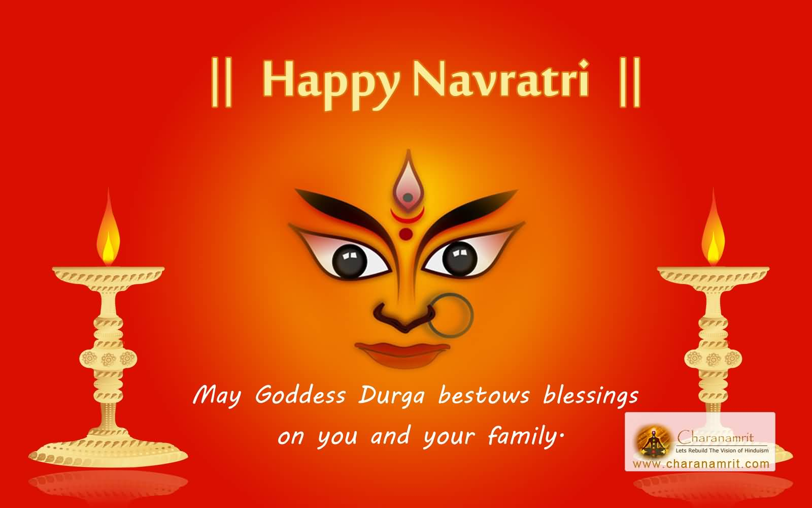 55 most beautiful happy navratri 2016 greeting images and photos happy navratri 2016 may goddess durga bestows blessings on you and your family kristyandbryce Choice Image