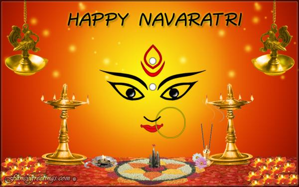 Happy navratri greeting card m4hsunfo Images