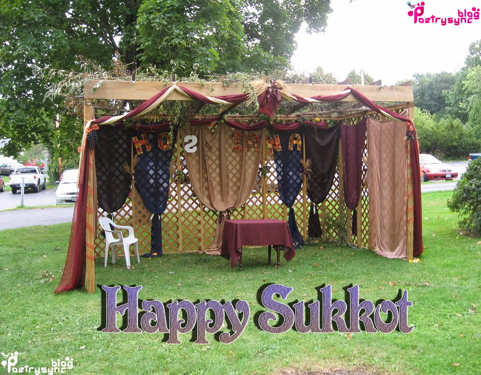 Happy Sukkot Decoration