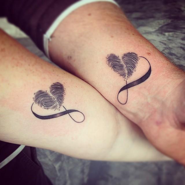 бесконечности знаком для влюбленных татуировки со