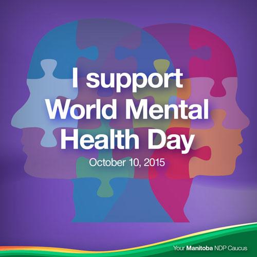 I Support World Mental Health Day October 15 Poster